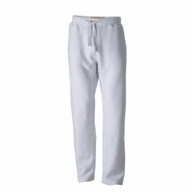 Vintage joggingbroeken wit met zakken voor heren