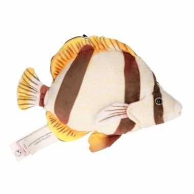 Vissen knuffel wit/bruin 21 cm