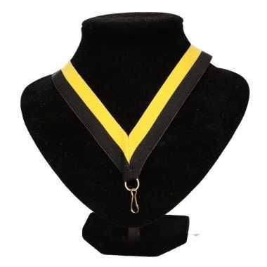 Vitesse supporters halslint zwart/geel