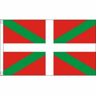 Vlag baskenland met ophangringen 90 x 150 cm