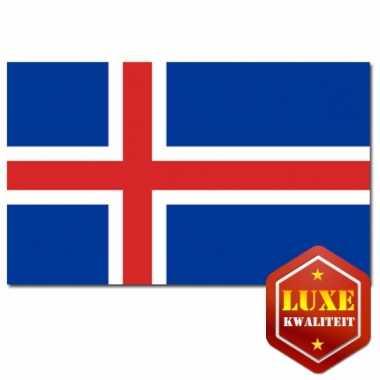 Vlaggen van ijsland 100x150 cm