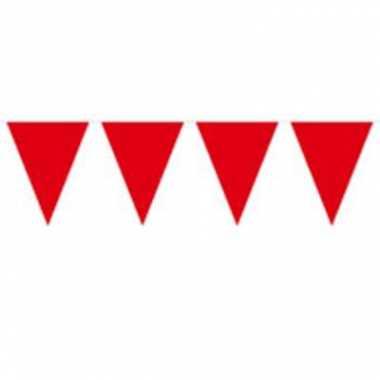 Vlaggenlijn effen rood 10 meter