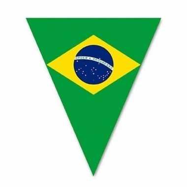 Vlaggenlijn met brazilie vlaggetjes 5 m