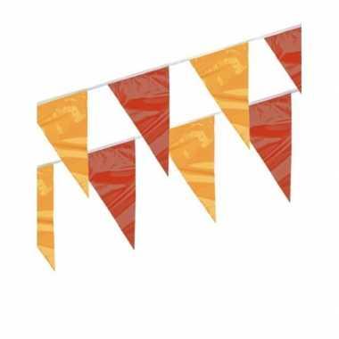 Vlaggenlijn rood en geel 4 meter