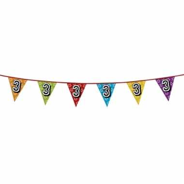 Vlaggetjes 3 jaar feestje