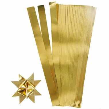 Vlechtstroken van papier goud 45 cm