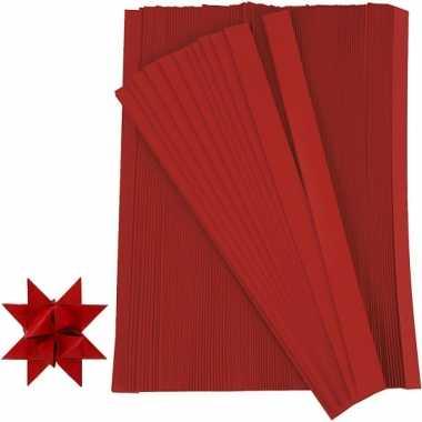 Vlechtstroken van papier rood 500 stuks