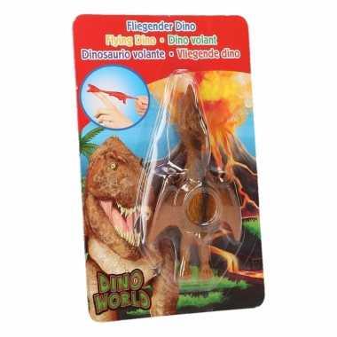 Vliegende dino speelgoed poppetje pterosauri?rs bruin