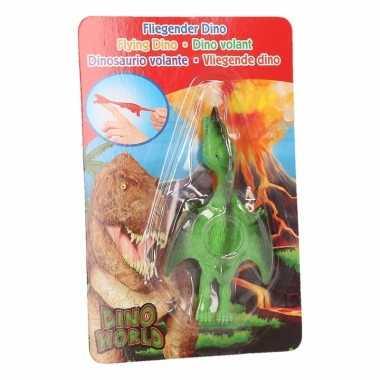 Vliegende dino speelgoed poppetje pterosauri?rs groen