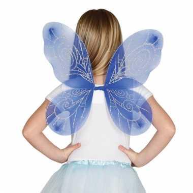 Vlinder vleugels blauw voor kinderen