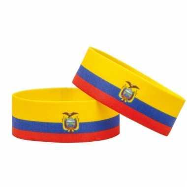 Voetbal armband ecuador