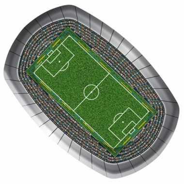 Voetbal bordjes 18 x 27 cm 8 stuks