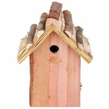 Vogel nestkastje van hout 18x27 cm