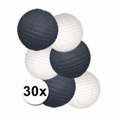 Voordeelset zwarte en witte lampionnen