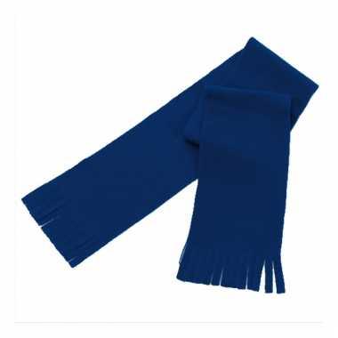 Voordelig polar fleece sjaaltje donkerblauw voor kinderen