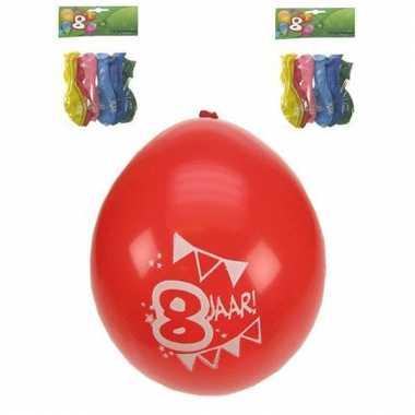 Voordelige feest ballonnen 8 jaar
