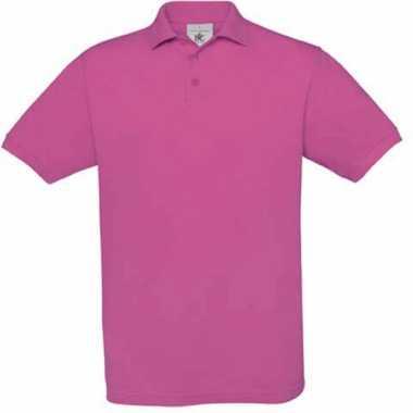 Voordelige fuchsia roze katoenen polo voor kids