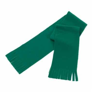 Voordelige polar fleece sjaaltje groen voor kinderen