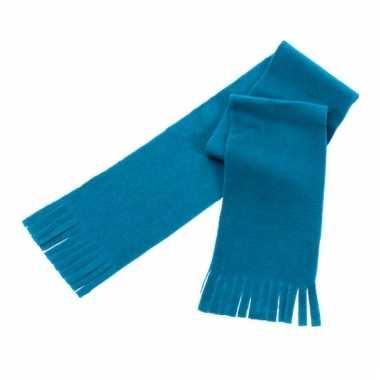 Voordelige polar fleece sjaaltje lichtblauw voor kinderen