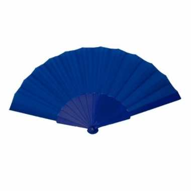 Voordelige waaier donker blauw 23 cm