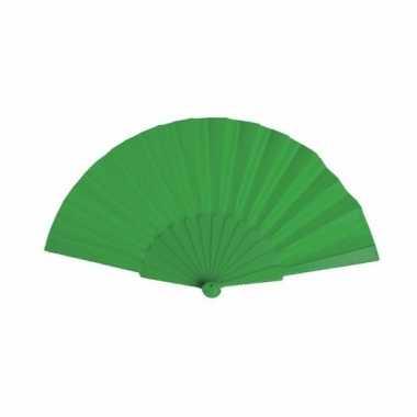 Voordelige waaier groen 23 cm