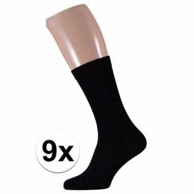 Voordelige zwarte sokken voor heren 9 paar