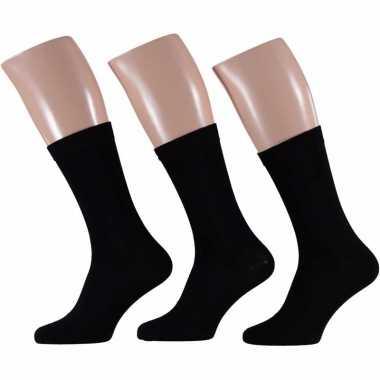 Voordelige zwarte sokken voor heren