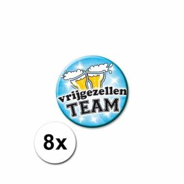 Vrijgezellen team buttons 8 st