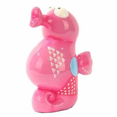 Vrolijk gekleurde spaartpot zeepaardje