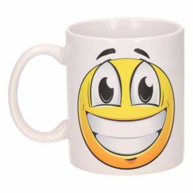 Vrolijke smiley mok / beker 300 ml
