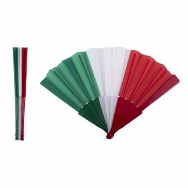 Waaiers van de italiaanse vlag