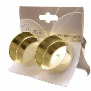 Waxinelichtjeshouders 4 stuks goud