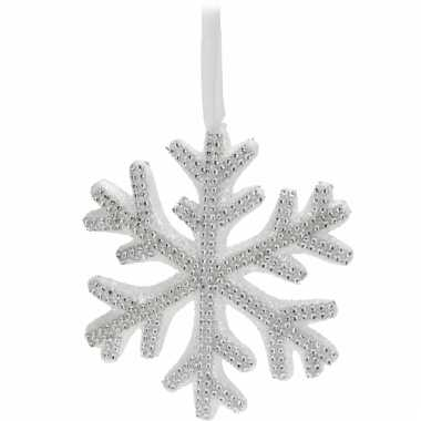Witte kerstversiering sneeuwvlok hanger
