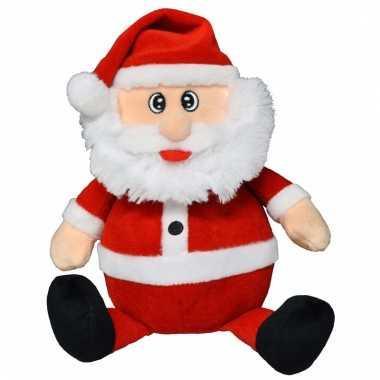 Zacht pluche kerstman knuffel 25 cm