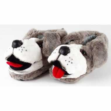 Zachte dieren pantoffels hond