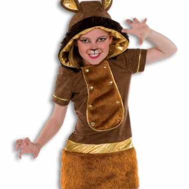 Zachte pluche leeuw kostuum meisjes