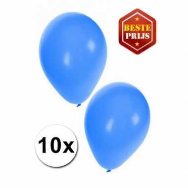 Zakje 10 blauwe party ballonnen