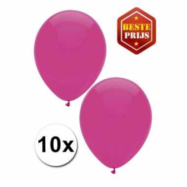 Zakje 10 donker roze party ballonnen