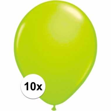 Zakje 10 groene party ballonnen