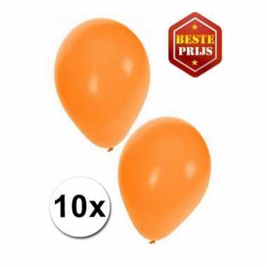 Zakje 10 oranje party ballonnen