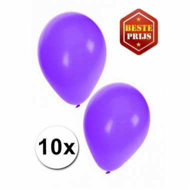 Zakje 10 paarse party ballonnen