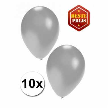 Zakje 10 zilveren party ballonnen