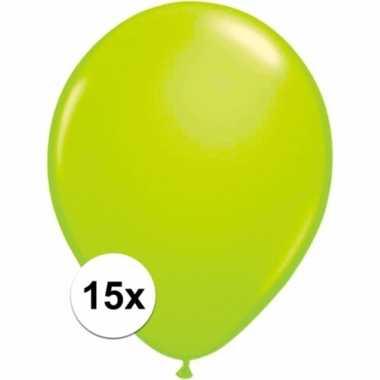 Zakje 15 groene party ballonnen