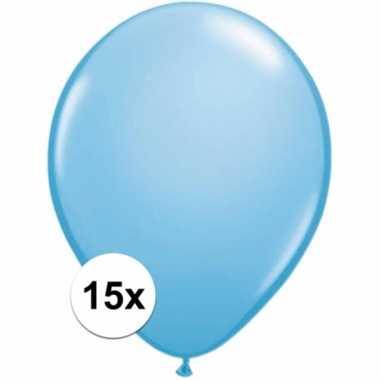 Zakje 15 lichtblauwe party ballonnen