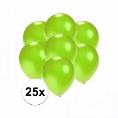 Zakje 25 metallic groene party ballonnen klein