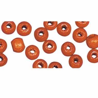 Zakje met 115 oranje kralen