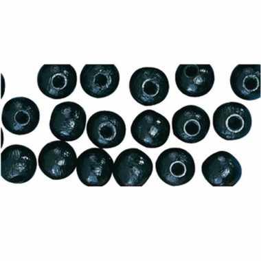 Zakje met 115 zwarte kralen