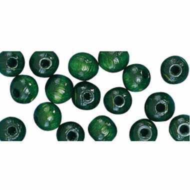 Zakje met 52 groene kralen