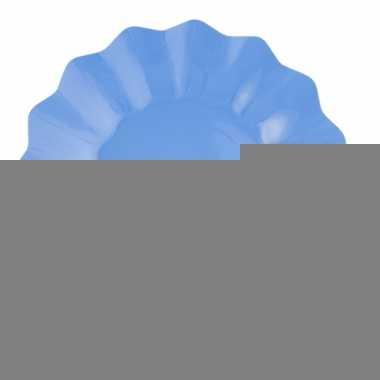 Zeeblauwe diepe barbecue borden 21 cm