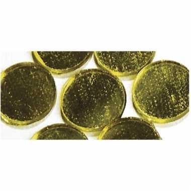 Zelfklevende spiegel mozaiek goud
